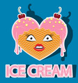 characters ice cream couplecharacter ice cream vector image