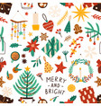 christmas holiday flat seamless pattern vector image