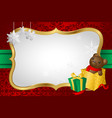 christmas shopping background vector image