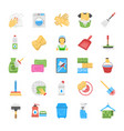 cleaning and maid icons vector image