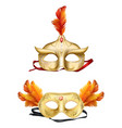 colombina golden masks 3d realistic set