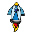 color rocket technology object exploration space vector image