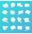 Comic Speech Bubbles Blank Templates for Chat vector image vector image