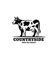 cow in black with text country vector image vector image