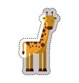 cute giraffe character icon vector image vector image