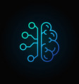 cyberbrain line blue icon artificial vector image vector image