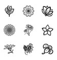 decor flower icon set simple style vector image
