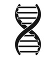 dna formula icon simple style vector image vector image