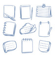 doodle note sketch notebook memo paper various vector image