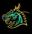 dragon head mascot sport and esport logo vector image vector image