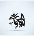 dragon icon vector image vector image