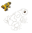 Draw the animal frog educational game vector image vector image