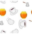 Drink pattern cartoon style vector image vector image