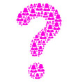 faq figure of woman icons vector image vector image