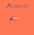 flat icon on background insect mosquito vector image