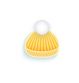 flat knitted winter hat isolated vector image vector image