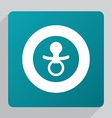 flat nipple icon vector image