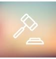 Gavel thin line icon