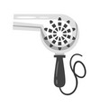 hairdressers tool - vintage hairdryer vector image