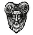 Horned Deity vector image