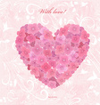 Invitation card with love a flower heart of vector image vector image