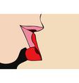 Kiss passionate kiss vector image vector image