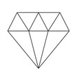 line art black and white diamond vector image