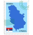 mail to-from Serbia vector image vector image