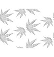 marijuana leaf in black and white vector image vector image