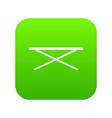 market counter icon digital green vector image