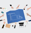 mobile apps application development construction vector image vector image