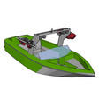 model speed boat on white background vector image vector image