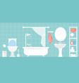 modern bathroom interior in vector image vector image