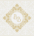 monogram from intertwining letters bb vector image