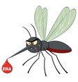 mosquito cartoon character vector image vector image