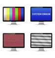 No signal on computer digital screens vector image vector image