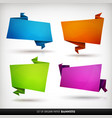 origami paper banners set vector image vector image