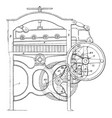 paper cutting machines vintage vector image vector image