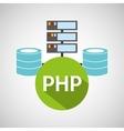 php language data base storage vector image vector image