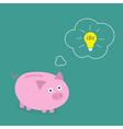 Piggy bank dream about idea light bulb Think bubbl