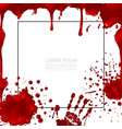 realistic bloody colorful template vector image vector image