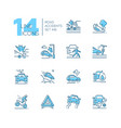road accidents - set line design style icons vector image vector image
