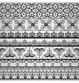 seamless floral retro borders vector image vector image