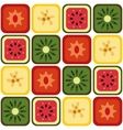 seamless fruits pattern vector image