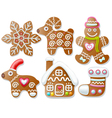 Set of gingerbread vector image vector image
