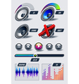 set of musical elements vector image