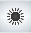 simple sun icon isolated on white background vector image