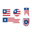simple usa flag emblem bundle vector image vector image