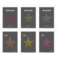 six business brochure design with star vector image
