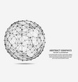 sphere network connections vector image